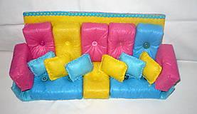 Hračky - Gaučová súprava pre Barbie - 11361995_