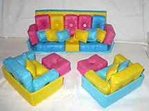 Hračky - Gaučová súprava pre Barbie - 11361997_