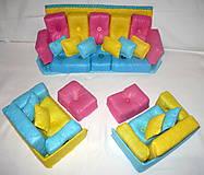Hračky - Gaučová súprava pre Barbie - 11361998_