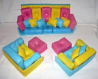 Hračky - Gaučová súprava pre Barbie - 11361999_
