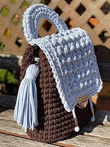 Batohy - Hand made háčkovaný ruksak - 11360517_