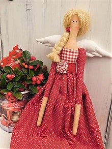 Dekorácie - Vianočná anjelka - 11361891_