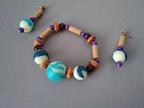 Sady šperkov - Náušnice & náramok svietiace v tme - 11359681_