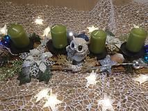 Dekorácie - Adventny svietnik sova - 11360537_