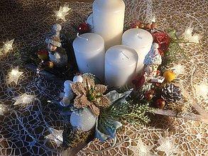 Dekorácie - Adventny svietnik hviezda - 11360310_