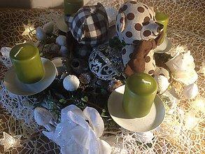 Dekorácie - Adventny vianočný  veniec mackovia - 11360363_
