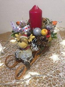 Dekorácie - Vianočny svietnik sob - 11360653_