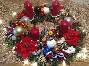 Dekorácie - Velký 50cm Adventny vianočný  veniec-Slovensko - 11360702_