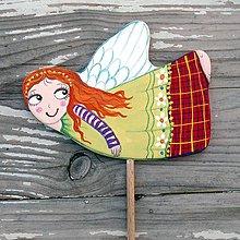 Dekorácie - Anjelik zápich - 11364257_