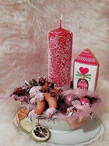 Dekorácie - Vianočná dekorácia - rozprávkový domček - 11365276_