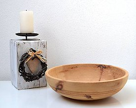 Nádoby - Drevená misa-natur - 11363506_