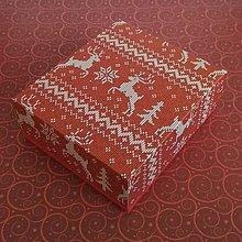 Krabičky - Krabička vianočná červená - 11363372_