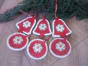 Dekorácie - Vianočné ozdoby s vločkami - SADA 6 ks   ... - 11363280_