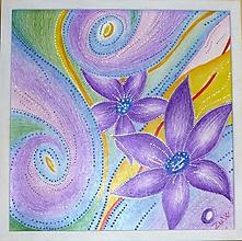 Obrazy - Obrázok-Fialové kvety - 11362890_