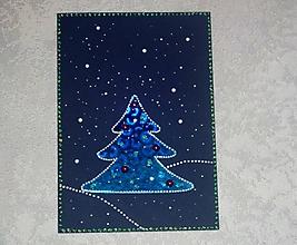 Papiernictvo - Modré vianoce - 11365615_