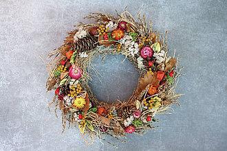 Dekorácie - Jesenný veniec - 11364980_