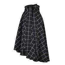 Sukne - FIONA - asymetrická zavinovacia sukňa (Čierno-biela) - 11365551_