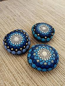 Drobnosti - Modráčiky - Na kameni maľované - 11364507_