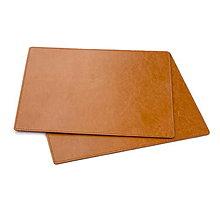 Pomôcky - Sada kožených podložiek pod poháre AMIRA - 6ks (Meď/Bronz) - 11364480_