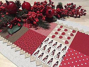 Úžitkový textil - obrus-štóla vianočná - 11363819_