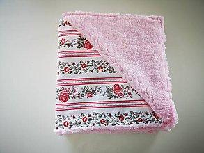 Textil - Teplá deka pre dieťatko  (Babičkine ruže) - 11365582_