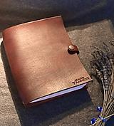 Papiernictvo - Kožený zápisník A5/A6 (A6 Prírodná (A)) - 11362900_