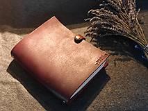 Papiernictvo - Kožený zápisník A5/A6 (A6 Prírodná (A)) - 11362917_