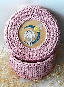 Detské doplnky - Handmade háčkovaný košík z kvalitných šnúr s vrchnákom s maľovaným motívom (detským) - 11363790_