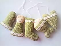 Dekorácie - Vianočné ozdôbky zelené - 11363560_