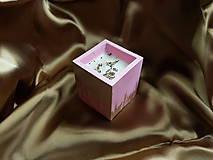 Svietidlá a sviečky - Sójová sviečka Pink - 11365053_