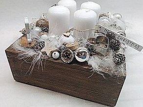 Dekorácie - Adventná krabička challet - 11362879_