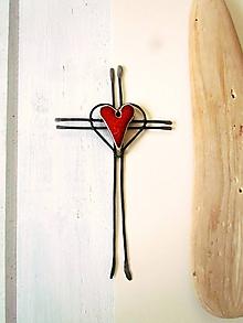 Dekorácie - tepaný krížik 19cm - 11362965_