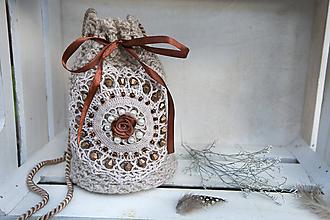 Taštičky - Háčkovaná kabelka - 11364343_