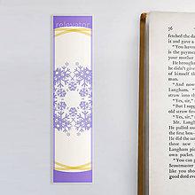 Papiernictvo - Vianočné záložky do knižky - vločky - 11362925_