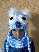 Detské čiapky - Bielo modra sovickova suprava SKLADOM - 11365252_