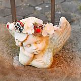 Ozdoby do vlasov - Zimná, vianočná čelenka bielo-strieborná s orchideami - 11366520_