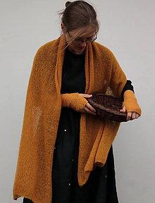 Šaty - zlatým puntíkrm tištěné - 11369222_