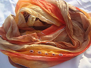 Šály - Oranžová jeseň II. - 11369267_