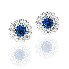 Náušnice - napichovačky CAPRI BLUE (Ag 925) - 11366565_
