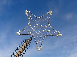 Dekorácie - hviezdny prach...špic na stromček  (2) - 11367359_