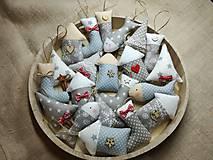 Dekorácie - Vianočné ozdoby šedé-sada - 11366953_
