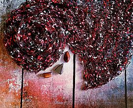 Šály - Zatmění srdce... pletený šál - 11367882_