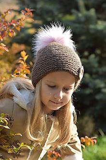 Detské čiapky - Dievčenská čiapka z baby alpaky - 11368510_