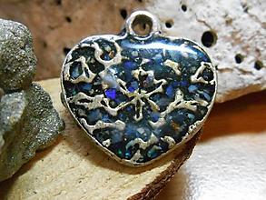 Odznaky/Brošne - slovanské srdce-opals II - 11369963_