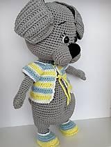 Hračky - Háčkovaný psík - 11367182_