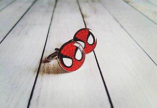 Šperky - Manžetové gombíky Spiderman - 11369709_