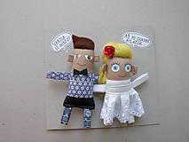 Darčeky pre svadobčanov - Nevesta + Ženích - 11367178_