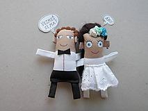 Darčeky pre svadobčanov - Nevesta + Ženích - 11367222_