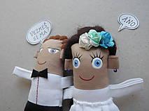Darčeky pre svadobčanov - Nevesta + Ženích - 11367223_