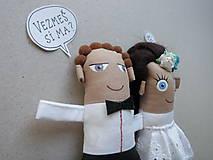 Darčeky pre svadobčanov - Nevesta + Ženích - 11367225_